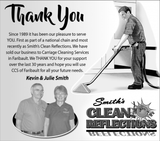 Thank You - Kevin & Julie Smith