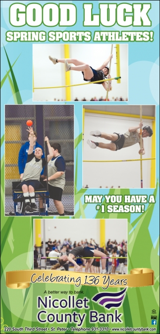 Good Luck Spring Sports Athletes!