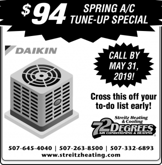 $94 Spring A/C Tune- UP Special
