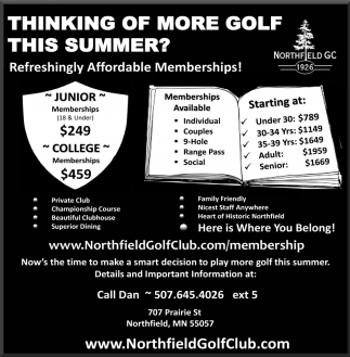 Thinking of More Golf this Summer?