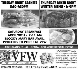 Tuesday Night Baskets / Thursday Mixer Night