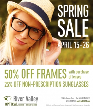 50% off frames with purchase of lenses