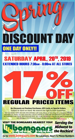 Spring Discount Day