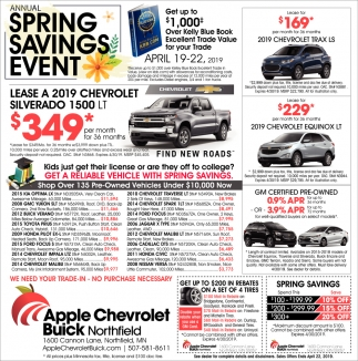 Spring Savings Event
