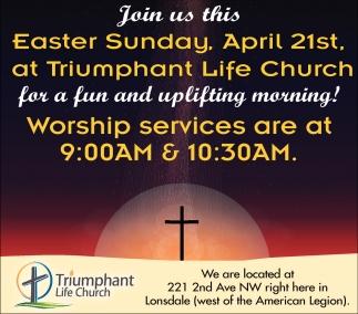 Easter Sunday April April 21st.