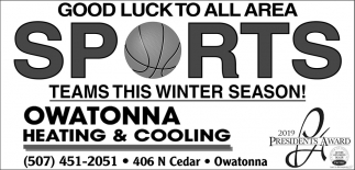Good Luck to All Area Sports Teams