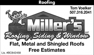 Flat Metal and Shingled Roofs, Free Estimates