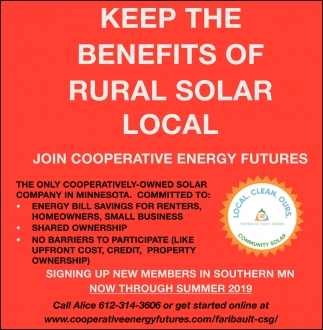 Keep the benefits of rural solar local