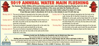 2019 Annual Water Main Flushing