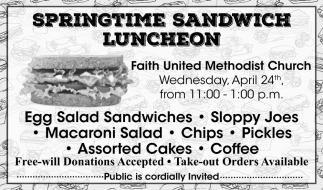 Springtime Sandwich Luncheon