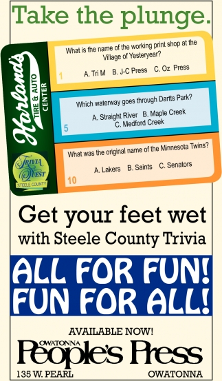 Get your feet wet with Steele County Trivia