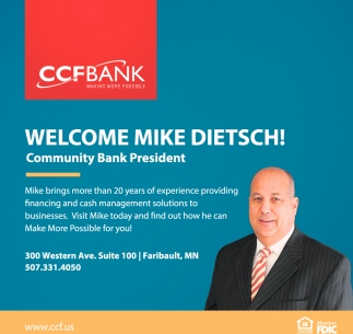 Welcome Mike Dietsch!