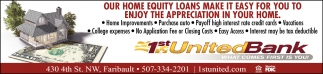 OUR HOME EQUITY LOANS MAKE IT EASY FOR YOU TO ENJOY THE APRECIATION IN YOUR HOME.