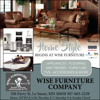 Begins at wise furniture