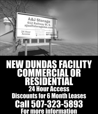 New Dundas Facility Commercial or Residential, A & J Self Storage , Faribault, MN