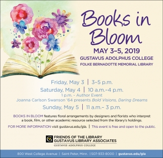 Books in Bloom May 3 -5