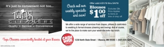 Blouses $1.00 off