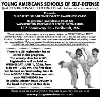 CHILDREN'S SELF-DEFENSE/SAFETY AWARENESS CLASS