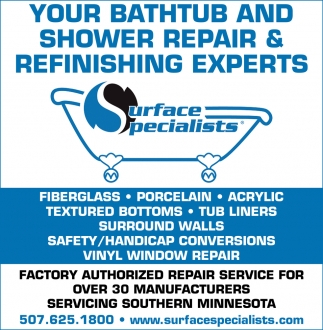 Your bathtub and shower repair & refinishing experts