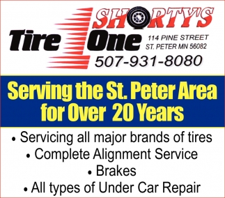 Servicing all major brands of tires