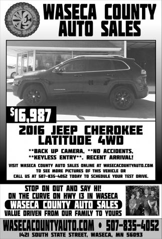 $16,987 - 2016 Jeep Cherokee Latitude 4WD