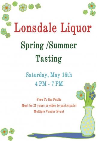 Lonsdale Liquor Spring / Summer Tasting