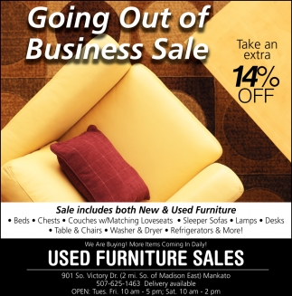 Miraculous Going Out Of Business Sale Used Furniture Sales Mankato Mn Uwap Interior Chair Design Uwaporg
