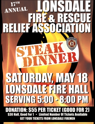17th Annual  Lonsdale Fire & Rescue Relief Association, Lonsdale Fire Department, Lonsdale, MN