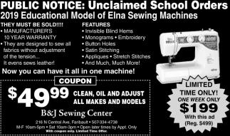 Public Notice: Unclaimed School Orders