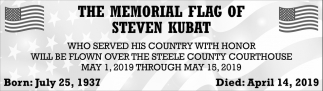 Memorial Flag of Steven Kubat