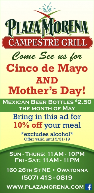 Cinco de Mayo And Mother's Day!, Plaza Morena Campestre Grill, Owatonna, MN
