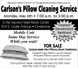 Carlson's Pillow Cleaning Service