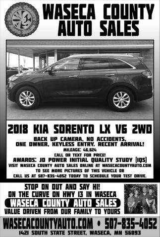 2018 KIA Sorento LX V6 2WD