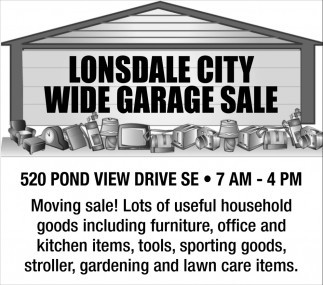 Wide Garage Sale - 520 Pond View Drive SE