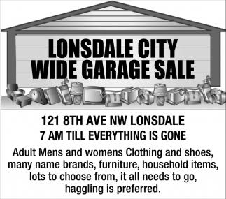Wide Garage Sale - 121 8th Ave NW