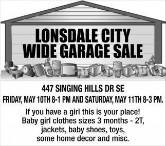 Wide Garage Sale - 447 Singing Hills Dr SE