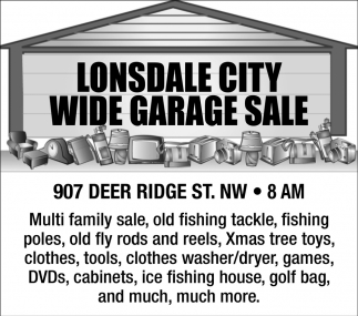 Wide Garage Sale - 907 Deer Ridge St. NW