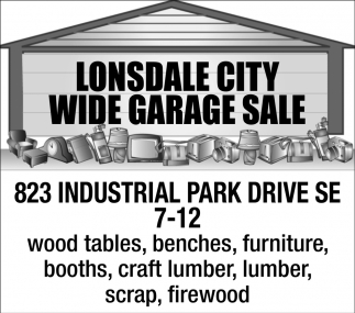 Wide Garage Sale - 823 Industrial Park Drive SE 7-12