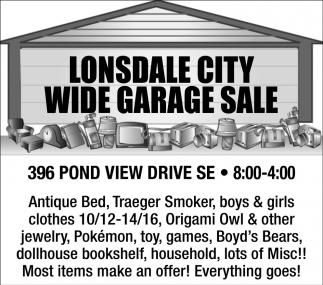 Wide Garage Sale - 396 Pond View Drive SE
