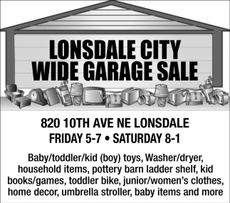 Wide Garage Sale - 820 10th Ave NE