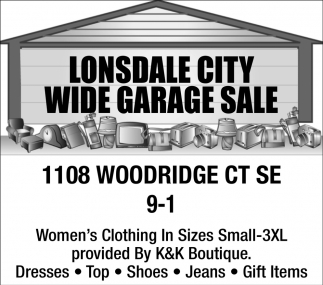 Wide Garage Sale - 1108 Woodridge Ct SE