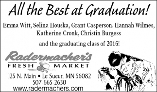 Ads For Radermacher's Fresh Market in Southern Minn
