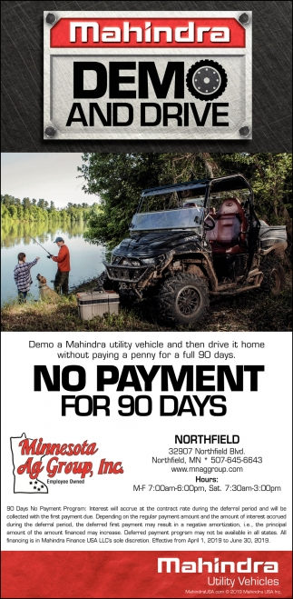 Mahindra - Demo and Drive