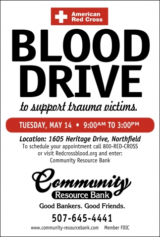 Blood Drive to Support Trauma Victims