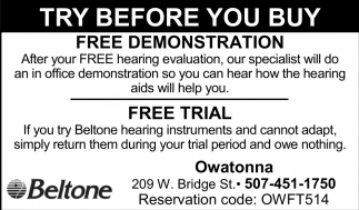 Free Demonstration / Free Trial