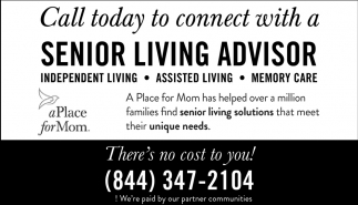 Call today to connect with a Senior Living Advisor, A Place for Mom, Waseca, MN