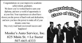 Congratulations! Class of 2016!