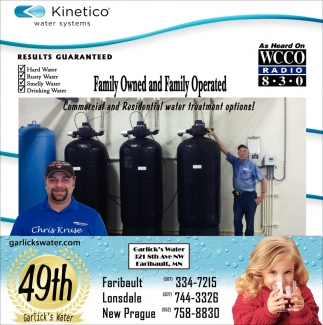Commercial and Residential water treatment options!