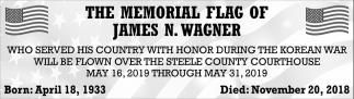 Memorial Flag of James N. Wagner