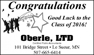 Ads For Oberle, LTD in Southern Minn